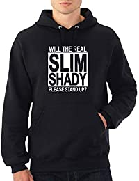 Will The Real Slim Shady Please Stand up Eminem Hoodie Felpa con Cappuccio  Maglione Sweater Regalo ee35cc33fab5