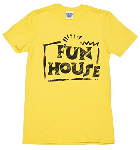 Mens Yellow Team Fun House T Shirt