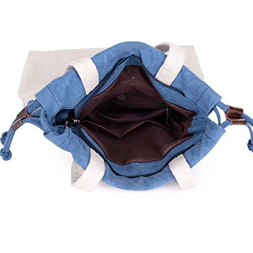 Pompaggio Canvas Cintura Di Borse Della Spalla Panno Casuale Portatile Brown