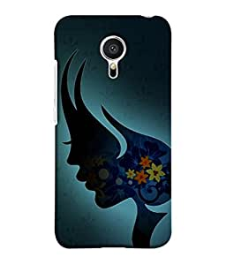 PrintVisa Designer Back Case Cover for Meizu M2 Note :: Meizu Note 2 (Illustration Of Lady In Beauty With Flowers )