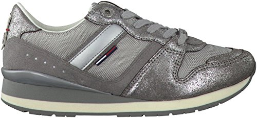 Tommy Hilfiger Land 1c Baskets Basses Neuf Chaus. Argent