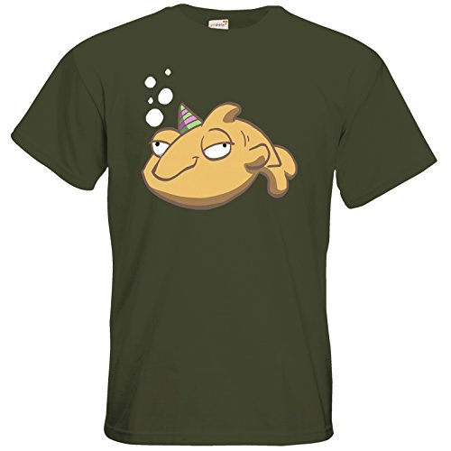 getshirts - Daedalic Official Merchandise - T-Shirt - Deponia Fisch Khaki