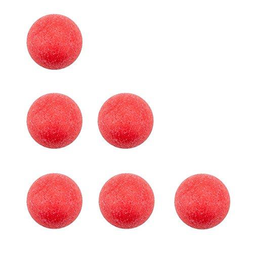 Easygame Table Soccer Foosballs Game Replacement  Official Tornado Foosballs Balls  Red 36mm  Set of 6