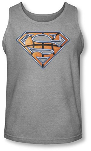 Superman-Scudo da-Canottiera da basket Heather