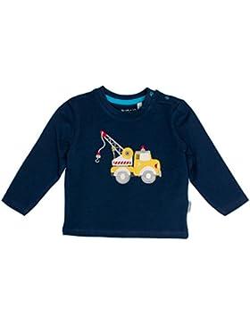 SALT AND PEPPER Baby-Jungen Langarmshirt B Longsleeve Cars Uni Kran Ocs