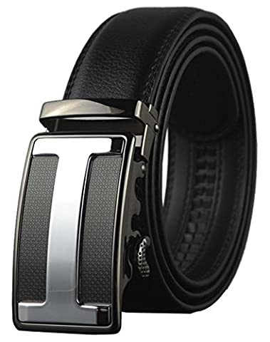 QISHI YUHUA PD Mens Casual Genuine Leather Belts Automatic Buckle