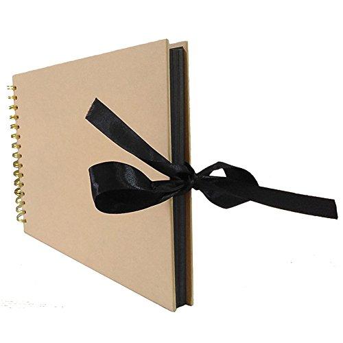 GEZICHTA Foto Album Scrapbook mit 40Schwarz Seite 30,5x 20,3cm, schwarz Foto Scrap Book DIY Album Buch Foto Bücher für Erinnerungen Valentines Day Gifts
