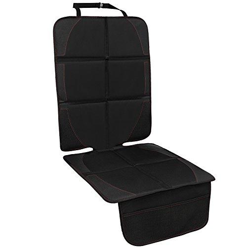 Autositzauflage, Kindersitzunterlage mit Schaumstoff Gepolsterte Sitzschoner Auto Kindersitz Anti-Rutsch-Anti-Kratz Flecken-Schutz-Organizer-Taschen, Autositzschoner Universalgröße, 1PC