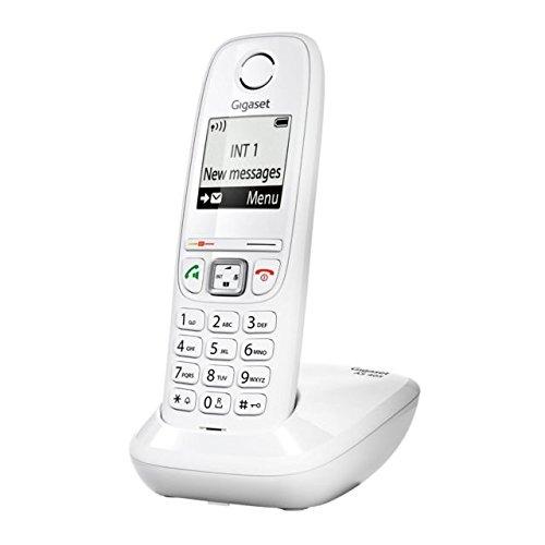 Gigaset as 405 telefono cordless, vivavoce, numeri grandi sul display, tastiera illuminata, esclusione della suoneria per fasce orarie, bianco, [italia]