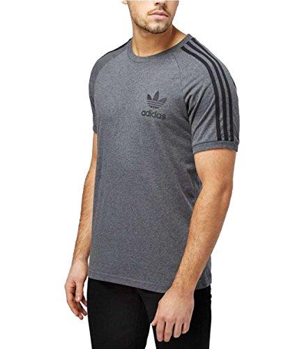 Adidas. maglietta california t shirt manica corta da uomo regular fit (m, grigio)