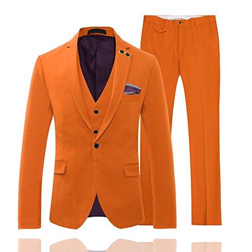 YOUTHUP Herren Anzug Orange