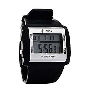 8Years-Cadeau de Mode 1 MINGRUI Montre Bracelet Montre Digital Plein Air Sport Multifonction Noir 223.0x33.0mm
