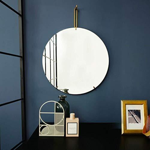 MTFZD Montado en la Pared Espejos de baño sin Marco Redondo del Maquillaje Espejo Colgante Decorativo...