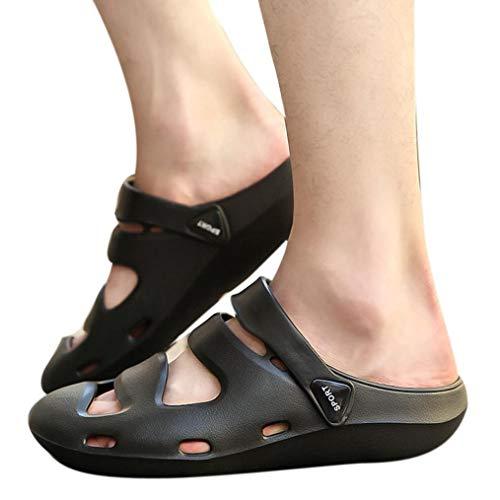 Honestyi uomo scarpe buco, infradito ciabatta pantofole, unisex traspirante casual all'aperto pantofole da spiaggia comfort sandali da doccia antiscivolo sandali da uomo openwork beach
