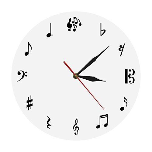 Quticl music studio orologio da parete note musicali orologio da parete chiave di violino musica orologio da parete