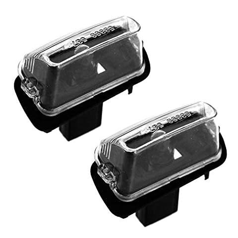 2x Kennzeichenbeleuchtung LED Kennzeichenleuchte Nummernschildleuchte Für Peugeot 206 207 307