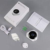 812G-S 360 Grados panorámica cámara IP inalámbrica Detección de Movimiento Visión Nocturna Interior Sistema de Seguridad Exterior para bebés Mascotas Ancianos