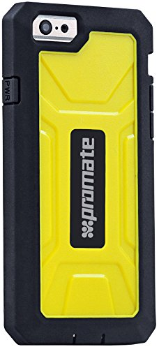 Promate iPhone 6S Coque Armour Coque pour iPhone 6 avec Heavy Duty robuste protection – Noir ARMOR Yellow iPhone 6