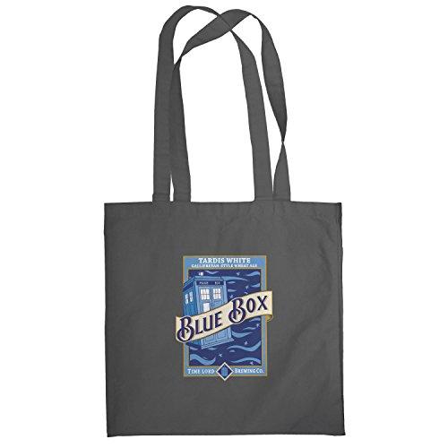 Texlab–Blue Box White Ale–sacchetto di stoffa Grau