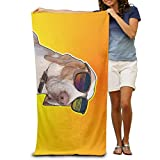 werert Bath Towel Dog Sunglasses Animal Patterned Soft Beach Towel 31