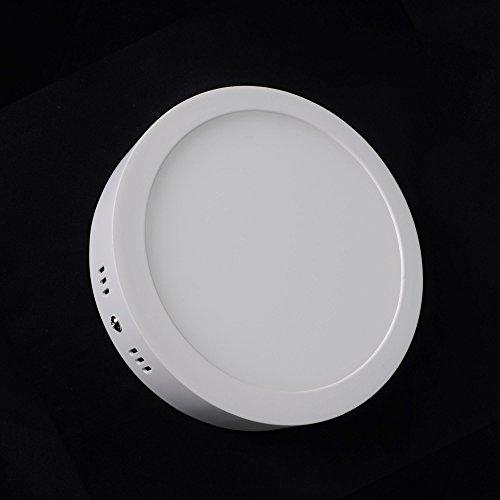 24 Sec, Farbe (LED Panel Deckenleuchte Aufputz-Strahler Decken-Lampe Aufbauspot WandleuchteWeiß Lampe Leuchte Rund 24W neutralweiß)