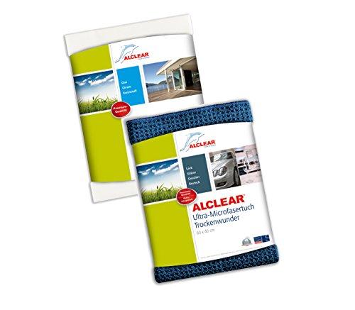 ALCLEAR 820002 Mikrofasertücher Fensterset - Fenstertuch, 60x45 cm