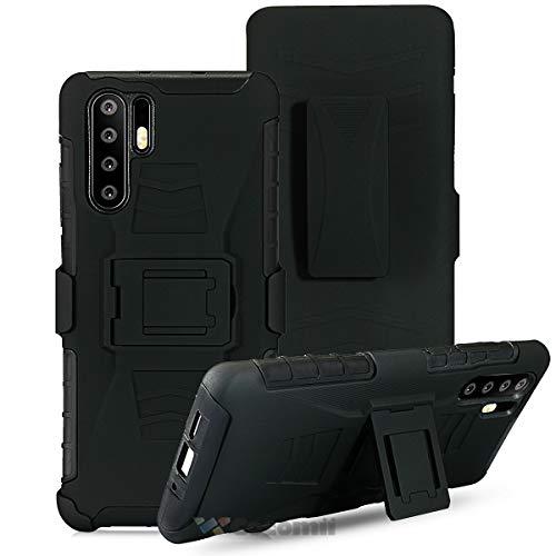 Cocomii Bionic Armor Huawei P30 Pro Hülle NEU [Strapazierfähig] Gürtelclip Ständer Stoßfest Gehäuse [Militärisch Verteidiger] Ganzkörper Case Schutzhülle for Huawei P30 Pro (Bi.Black) -