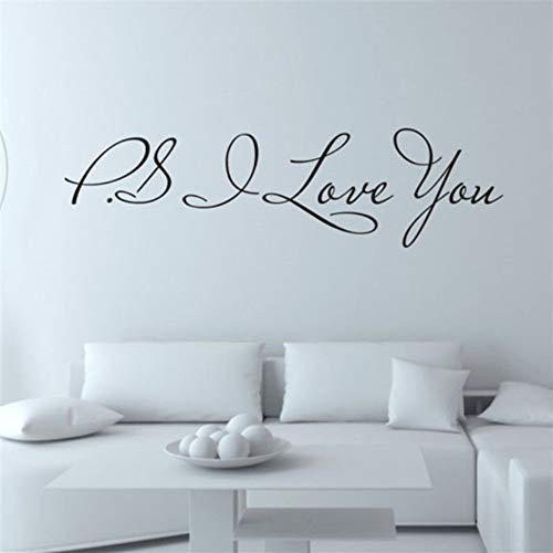 Preisvergleich Produktbild Xqi wangpu Ich Liebe Dich abnehmbare Art Vinyl Wandbild Home Room Decor Wandaufkleber Wandaufkleber an der Wand Decoracion Aufkleber Wohnkultur 16cmx60cm