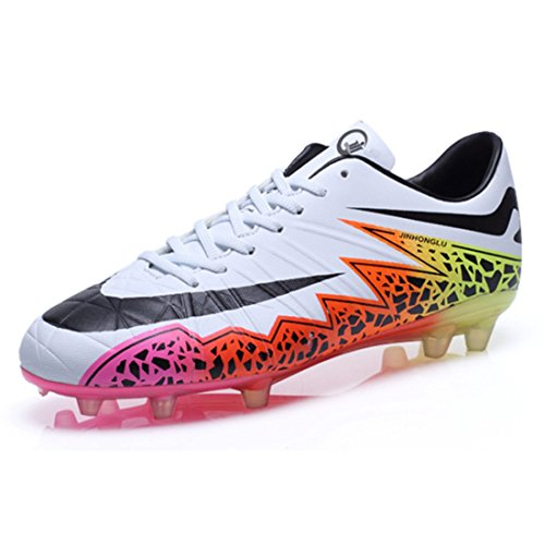 Men's Grass Lawn Outdoor Soccer Shoes white