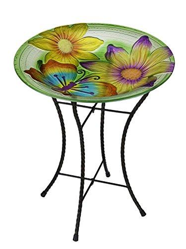 Regal Art & Geschenk Schmetterling Glow Vogeltränke, 45,7cm