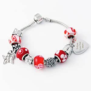 Charm Bracelet - Cherry - 18cm. This is a great product that can be personalised to your requirements ( please see main discription for full details ) Ideal gifts and presents for weddings, Christenings, Birthdays, Christmas etc…