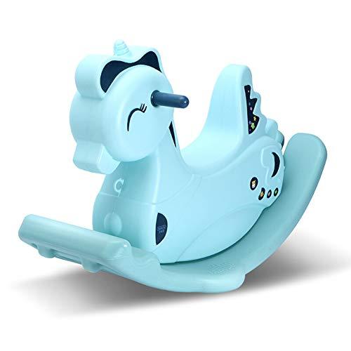 Nattou Schaukeltiere,Kind Schaukelpferd Kunststoff Schaukelpferd Spielzeug Für 2-6 Jahre Kind Rocker PE Umwelt Schaukelpferd,Blue