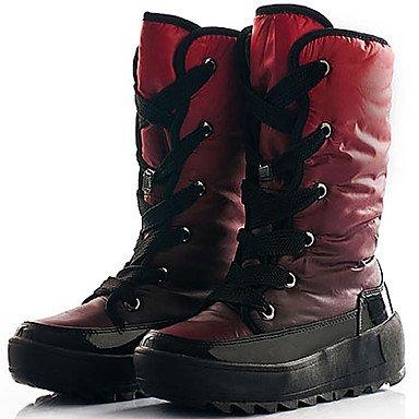 RTRY Scarpe Da Donna In Nylon Di Velluto Autunno Inverno Fodera Fluff Snow Boots Scarponi Sci Ginocchio Scarpe Stivali Alti Per Lavoro All'Aperto &Amp; Sicurezza Blu Rosso US5.5 / EU36 / UK3.5 / CN35