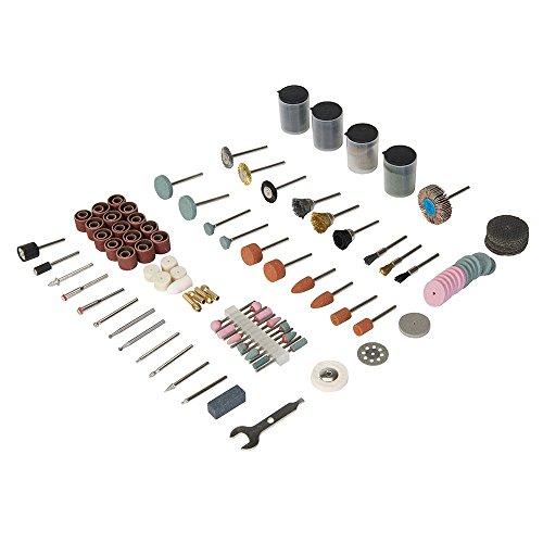 Silverline 267204 Zubehör für Rotationswerkzeuge, 216-tlg. Satz Schaft: 3,17 mm