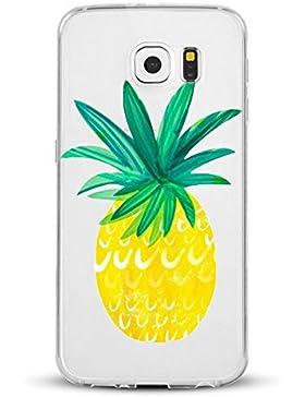 Funda Samsung Galaxy S6 Edge Carcasa Galaxy S6 Case Suave TPU Cover Dibujos Patrón Divertido Silicona
