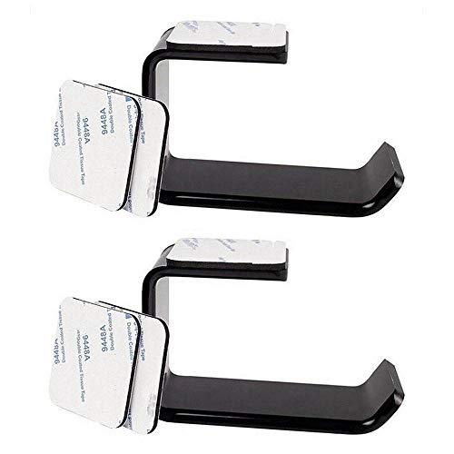 Aolvo Wand-Kopfhörer-Aufhänger, Wand-Headset-Halterung, Gaming-Headset-Halterung, Kopfhörer-Haken mit 3M-Klebeband, Schwarz (1 Pack) 2er-Set - 1 Klebeband 2 Schwarz