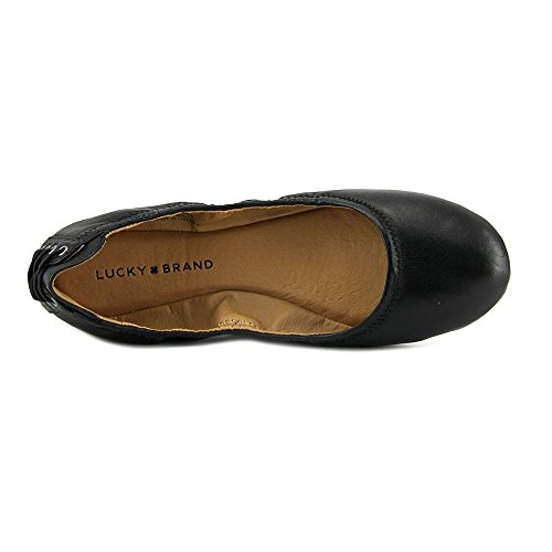 Lucky Brand Echo2 Cuir Chaussure Plate Black