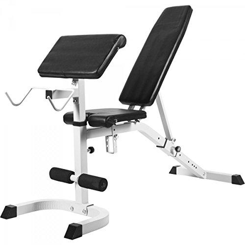 Gorilla Sports Banc de Musculation réglable incliné/décliné avec pupitre à Biceps