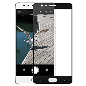 Oppo F1 PLUS Tempered Glass,Full Screen Color Glass By Relax&Shop - Black