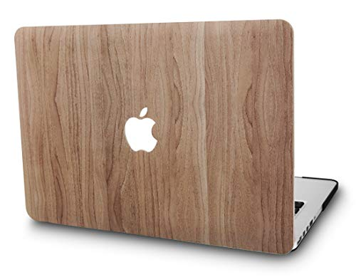 KECC MacBook Pro 13 Coque (2019/2018/2017/2016, Touch Bar) Rigide Case Cover pour MacBook Pro 13.3 {A1989/A1706/A1708} (Bois de pin 2)