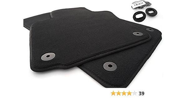 Fußmatten Passend Für Golf 5 6 Velours Automatten Autoteppich 2 Teilig Vorn Schwarz Auto