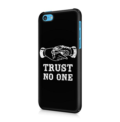 Black Is My Happy Color Quote Apple iPhone 5 / iPhone 5S / iPhone SE SnapOn Hard Plastic Phone Protective Custodia Case Cover Trust No One