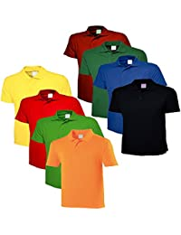 Lime's Multi Color Polo Neck T Shirts For Men ( Pack Of 8 ) - B01MFC58KJ