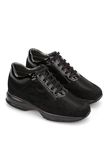 Hogan sneaker interactive scamosciate nero hxw00n0001035x