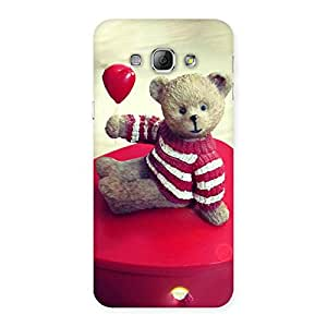 Red Heart Teddy Back Case Cover for Galaxy A8