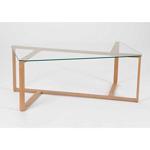 Korb Table Basse Design Verre et Bois 110x60 cm