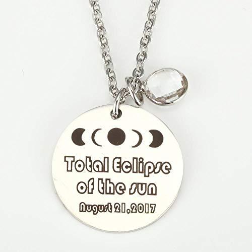 TtKjSchlüsselbund Total Solar Eclipse Landschaft Astronomie-Enthusiasten Halskette Schlüssel Anhänger 2-teiliges Set - Schlüssel Eclipse