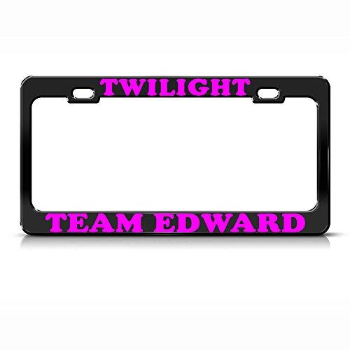 Twilight Team Edward Kennzeichenrahmen für SUV-Kennzeichen, Metall, Schwarz