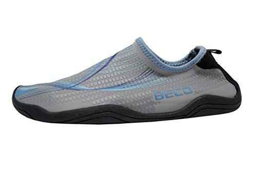 Beco Damen und Herren Badeschuhe Schwimmschuhe Surfschuhe Barfuß Schuhe Wasserschuhe Strandschuhe Aquaschuhe schnell trocknend, blau, 39