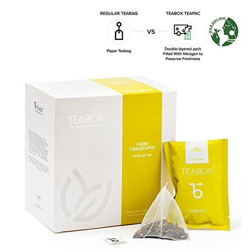 Teabox darjeeling, tè oolong, 40 g, 16 bustine teapacs | sigillato all'origine, prodotto in india